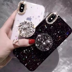Glittery iPhone case with holder